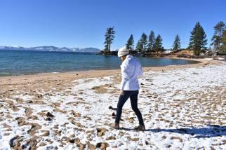 Exploring the beaches of Lake Tahoe, California