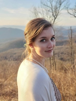 Posing in the Shenandoah National Park watching my little sister get married at the most beautiful overlook!